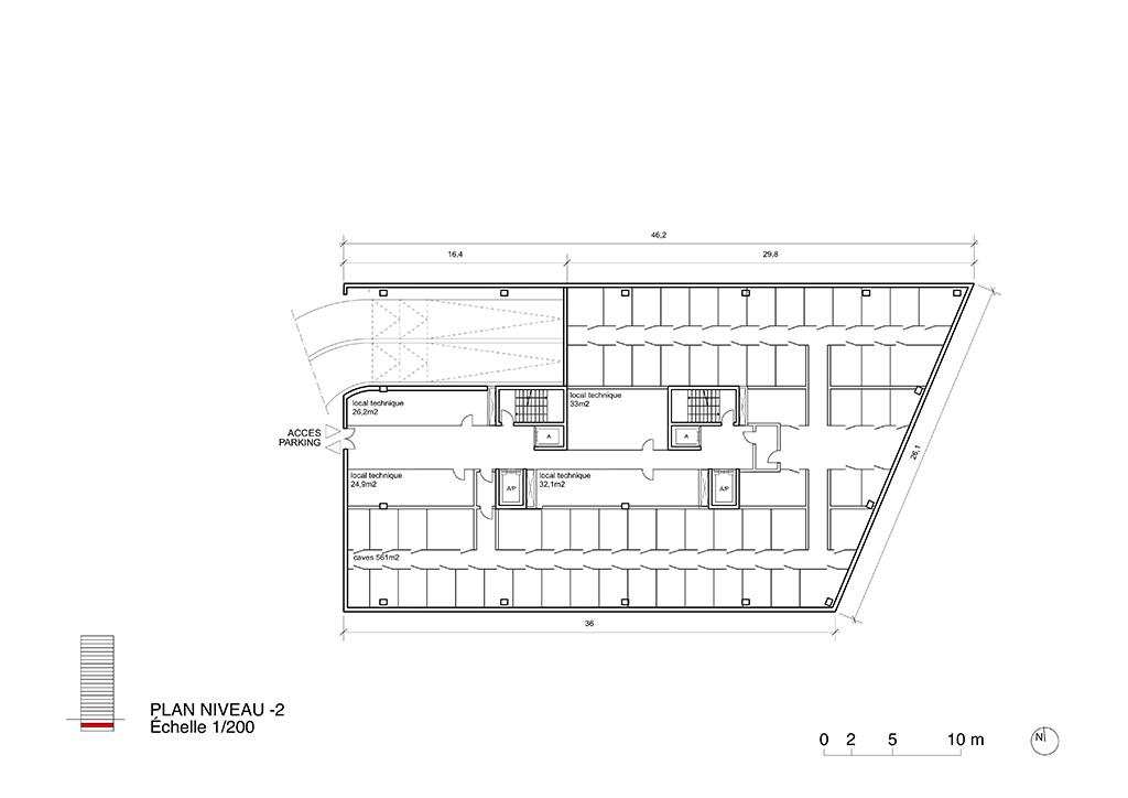 Immeuble de logements et bureaux halte ceva ch ne bourg for Immeuble bureau plan