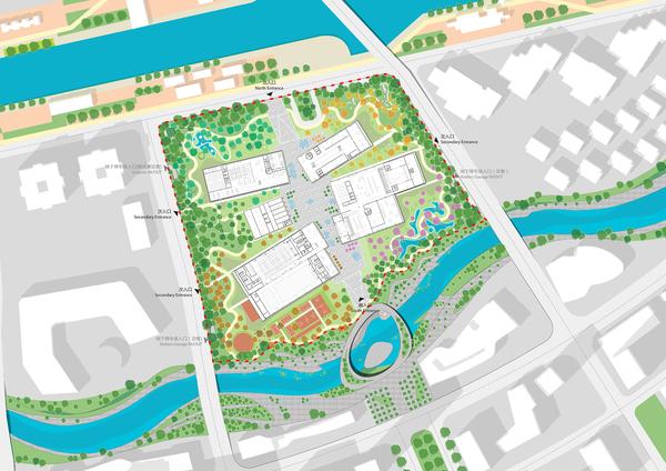 Masterplan gf with bilden riverfront