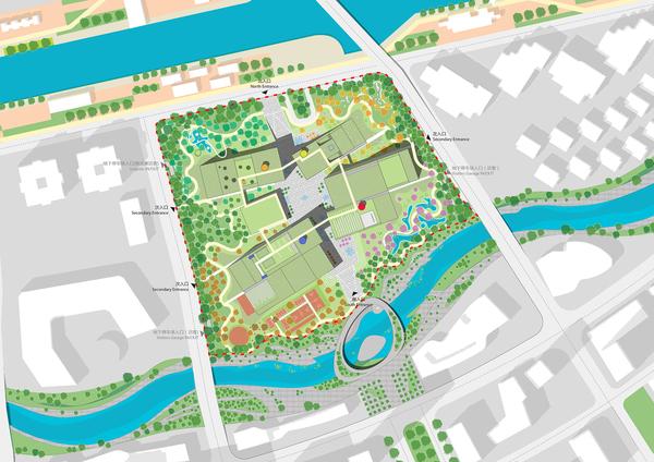 Masterplan with bilden riverfront