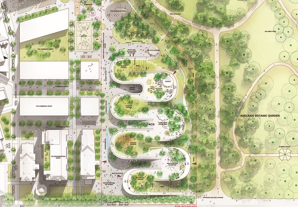 Big acg adelaide contemporary gallery site plan image by big bjarke ingels group original