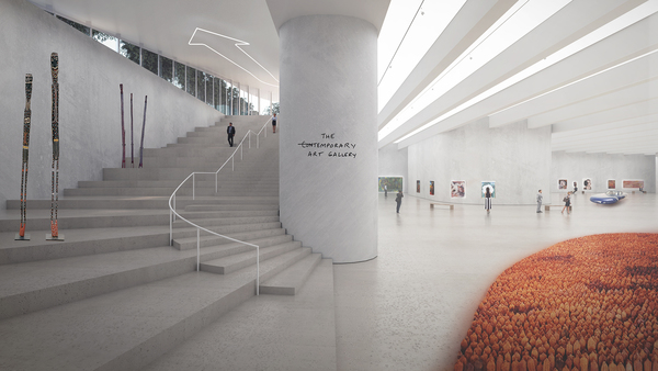 10 big acg adelaide contemporary gallery stairs image by big bjarke ingels group original