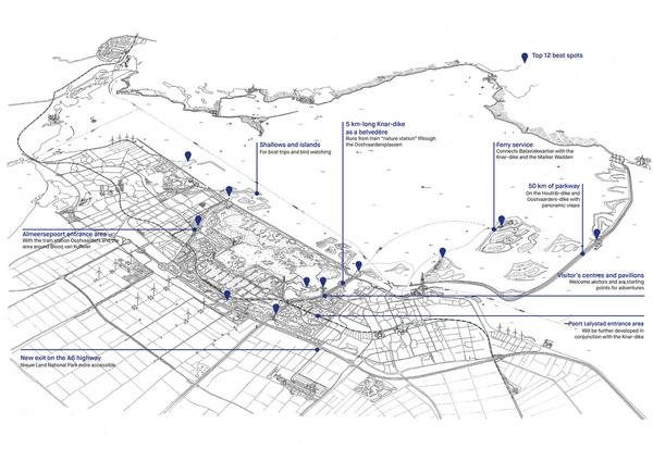 Map with legenda en
