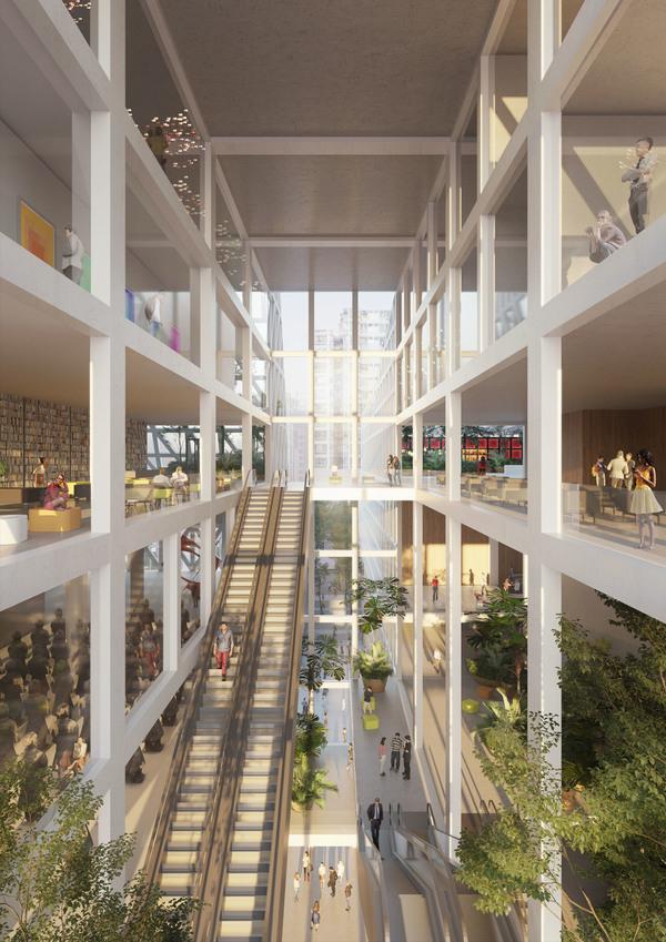 Futian civic culture center interior 3